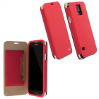 KRUSELL ΘΗΚΗ SAMSUNG S5 G900F LEATHER MALMO FLIPCOVER RED