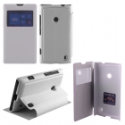 ΘΗΚΗ NOKIA LUMIA 520/525 HARD VIEW BOOK-STAND WHITE VOLTE-TEL