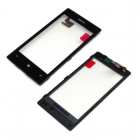 NOKIA LUMIA 520/525 TOUCH SCREEN + LENS + FRAME BLACK