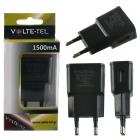 VOLTE-TEL USB TRAVEL CHARGER mini VTU15 1500mA BLACK