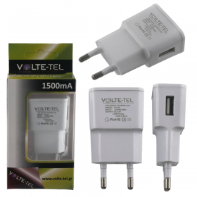 VOLTE-TEL USB TRAVEL CHARGER mini VTU15 1500mA WHITE