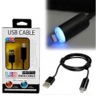 VOLTE-TEL LIGHTNING LED USB 2.1A ΦΟΡΤΙΣΗΣ-DATA 1m iOS11 BLACK