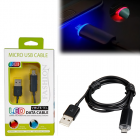VOLTE-TEL MICRO USB DEVICES LED USB 2.1A ΦΟΡΤΙΣΗΣ-DATA 1m BLACK