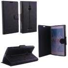 ΘΗΚΗ NOKIA XL RM-1030 LINE LEATHER-TPU BOOK STAND BLACK VL