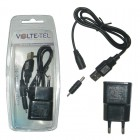 VOLTE-TEL NOKIA 6101 (USB CONNECTOR+VCUA01+TRAVEL VTU15 1500mA) BLACK