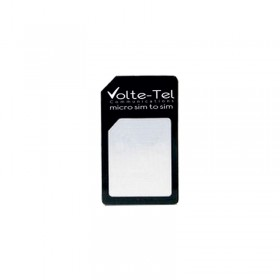 MICRO SIM CARD TO SIM CARD ADAPTOR BLACK VOLTE-TEL