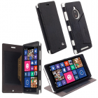 ΘΗΚΗ NOKIA LUMIA 830 LEATHER MALMO FLIPCOVER STAND BLACK KRUSEL