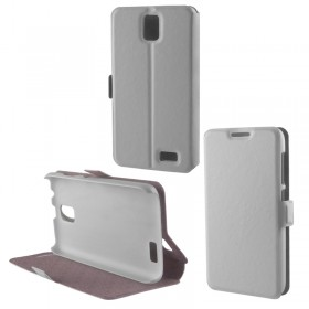 ΘΗΚΗ LENOVO A328 PU LEATHER BOOK-STAND WHITE VOLTE-TEL