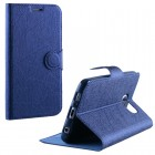 ΘΗΚΗ SAMSUNG G920 S6 LINE LEATHER-TPU BOOK STAND BLUE VL