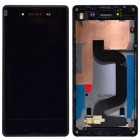 SONY D2203 XPERIA E3 ΟΘΟΝΗ + FRONT + TOUCH SCREEN BLACK OR