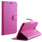 VOLTE-TEL ΘΗΚΗ LG LEON H340N/H320 LINE LEATHER-TPU BOOK STAND PINK