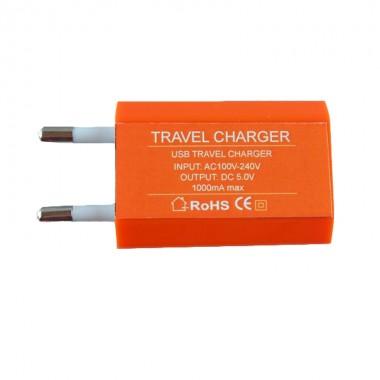 USB TRAVEL CHARGER mini 1000mA ORANGE