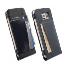 ΘΗΚΗ SAMSUNG GALAXY S6 G920 LEATHER WALLET CASE KALMAR BLACK KRU
