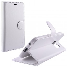 ΘΗΚΗ HUAWEI HONOR 7 LEATHER-TPU BOOK STAND WHITE VL