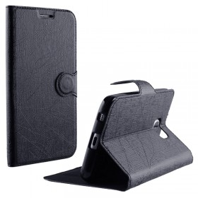 ΘΗΚΗ HUAWEI HONOR 4X GLORY PLAY LINE LEATHER-TPU BOOK STAND BLAC
