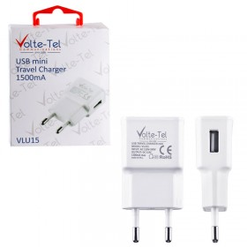 VOLTE-TEL USB TRAVEL CHARGER mini VLU15 1500mA WHITE