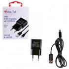 VOLTE-TEL MICRO USB(ΦΟΡΤΙΣΗΣ-DATA VCD05+TRAVEL VLU15 1500mA) BLACK