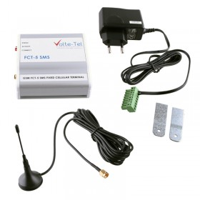 GSM BOX FCT-5 SMS VOLTE-TEL ΣΥΝΔΕΣΗ ΤΗΛΕΦΩΝΙΚΟΥ ΚΕΝΤΡΟΥ+ΣΥΝΑΓΕΡΜ