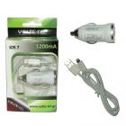 IPHONE 5 USB(ΦΟΡΤΙΣΤΗΣ-DATA VCD01+Φ.Α VCU09 1200mA)WHITE iOS9 VT