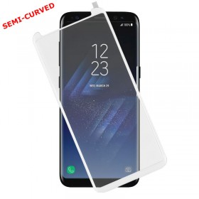 TEMPERED GLASS SAMSUNG S8+ G955 9H 0.30mm 3D SEMI-CURVED WHITE I