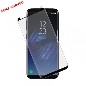 TEMPERED GLASS SAMSUNG S8+ G955 9H 0.30mm 3D SEMI-CURVED BLACK I