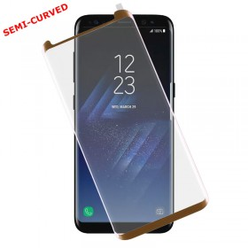 TEMPERED GLASS SAMSUNG S8+ G955 9H 0.30mm 3D SEMI-CURVED GOLD ID