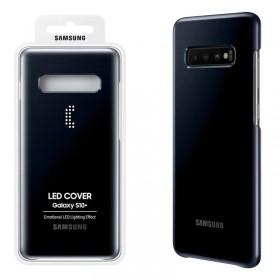ΘΗΚΗ SAMSUNG S10 PLUS G975 NFC POWERED LED COVER EF-KG975CBEGWW BLACK PACKING OR
