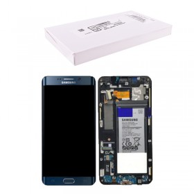 SAMSUNG G928F S6 EDGE PLUS ΟΘΟΝΗ + TOUCH SCREEN + LENS + FRONT GH82-13205A + BATTERY BLACK ORIGINAL SERVICE PACK