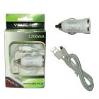 LIGHTNING USB(ΦΟΡΤΙΣΗΣ-DATA VCD01+Φ.Α VCU09 1200mA)WHITE VT
