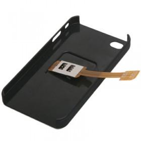 DUAL SIM IPHONE 4G/4S + FACEPLATE BLACK Q-Sim