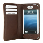 ΘΗΚΗ IPHONE SE/5S/5/5C LEATHER SMART BOOKCASE BROWN BUGATTI