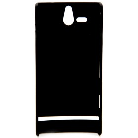Θήκη Faceplate Ancus για Sony Xperia U Velvet Feel Μαύρη