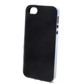 Θήκη Σιλικόνης Ancus για Apple iPhone SE/5/5S δίχρωμη Μαύρη-Γκρί