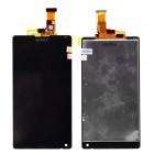 Οθόνη & Μηχανισμός Αφής Sony Xperia ZL Μαύρο χωρίς Πλαίσιο, Κόλλα ΟΕΜ