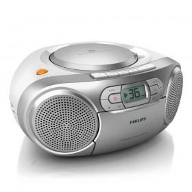Φορητό Ράδιο CD/Κασέτα Philips AZ127/12 Ασημί