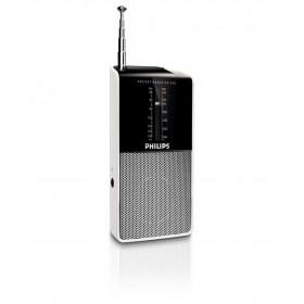 Φορητό Αναλογικό Ραδιόφωνο FM/MV Philips AE1530 Μαύρο - Ασημί