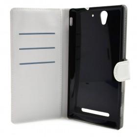 Θήκη Book Ancus Teneo για Sony Xperia C3 D2533 Λευκή