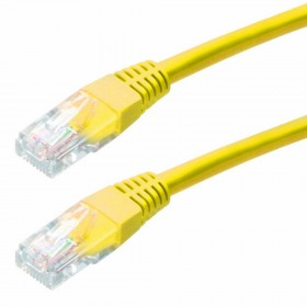 Καλώδιο Δικτύου Jasper CAT5E UTP 3m Κίτρινο Patch Cord