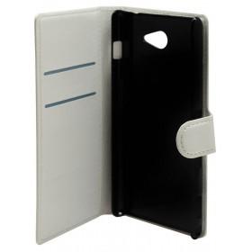 Θήκη Book Ancus Teneo για Sony Xperia M2/M2 Dual Λευκή