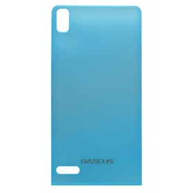 Θήκη Faceplate Ultra Thin Baseus Silker για Huawei Ascend P6 Μπλέ Velvet Feel + Screen Protector Ultra Clear, Πενάκι