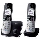 Ασύρματο Ψηφιακό Τηλέφωνο Panasonic KX-TG6812 (EU) Duo Μαύρο με Λειτουργία Eco