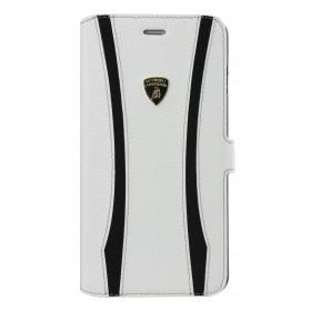Θήκη Book Δέρμα Lamborghini για Apple iPhone 6 Plus/6S Plus Λευκή  E.T-D1
