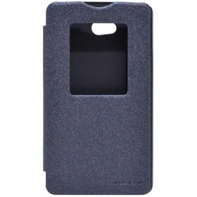 Θήκη Book S-View Nillkin Sparkle για LG L80 D380 Μαύρη με ενεργό S-View