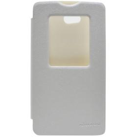 Θήκη Book S-View Nillkin Sparkle για LG L80 D380 Λευκή με ενεργό S-View