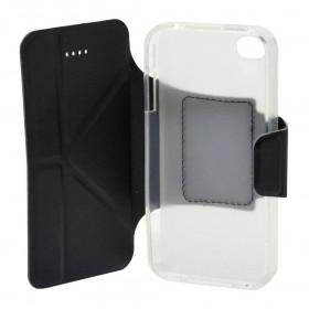 Θήκη Book Ancus Classic για Apple iPhone 4/4S Μαύρη