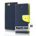 Θήκη Book Goospery Fancy Diary για Apple iPhone 6/6S Σκούρο Μπλέ - Lime by Mercury