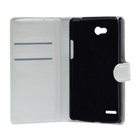 Θήκη Book Ancus Teneo για LG L80 D373 Λευκή