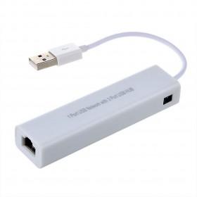 Εξωτερική Κάρτα Δικτύου Mobilis USB Fast Ethernet με Usb Hub 3 Υποδοχών