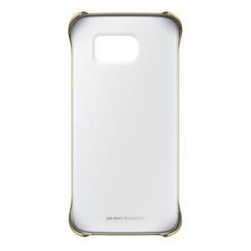 Θήκη Faceplate Samsung Clear Cover EF-QG925BFEGWW για SM-G925F Galaxy S6 Edge Διάφανο - Χρυσό/Ασημί