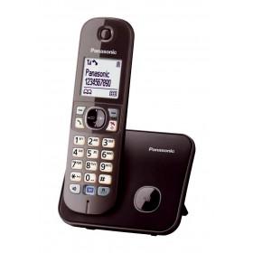 Ασύρματο Ψηφιακό Τηλέφωνο Panasonic KX-TG6811GRA Καφέ με Λειτουργία Διακοπής Ρεύματος και Λειτουργία ECO